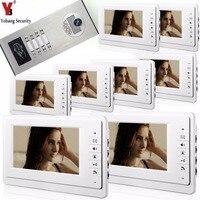 Yobang Security 2 to 12 Units 7Apartment Building Intercom System RFID Unlock Building Home Video Door Phone Bell Intercom Kits