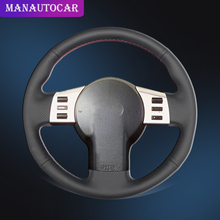 цена на Car Braid On The Steering Wheel Cover for Infiniti FX FX35 FX45 2003-2008 Nissan 350Z 2003-2009 Auto Leather Covers Car-styling