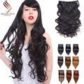 7A Brazilian Clip in Extensions Straight Full Head 7pcs Brazilian Virgin Hair blonde clip in human hair extensions