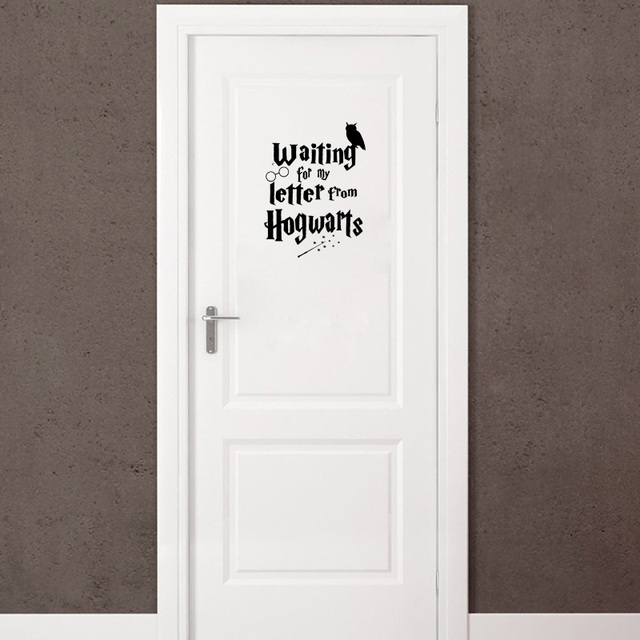 Creativo harry potter hogwarts vinilo puerta etiqueta Vinilos pared harry potter