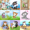 Needlework 5D Diy Diamond Painting Lovely Cat Pictures 3D Diamond Embroidery Home Decor Full Square Dill