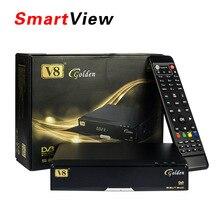 [Auténtica] V8 de Oro Combo DVB-S2 + DVB-T2 + DVB-C TV Vía Satélite Receptor Apoyo Newcamd PowerVu mejor que v8 pro combo