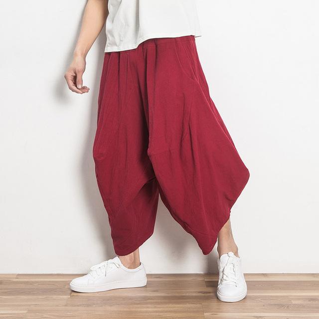 Aladdin Gypsy Hippie Baggy Pants Mens Outwear Casual Pantalones Más Tamaño Harén Pantalones de Verano Nuevo Nepal India Hawaii Danza Pantalones
