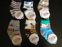2017 Corrieron Nuevos Nacidos calcetines Niño 0-2year Envío Gratis Nuevo Algodón Bebé antideslizantes Niños de Dibujos Animados Piso 12 par = 24 unid = mucho