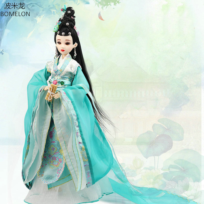 2018 New Handmade Chinese Dolls Song Dynasty Beauty Action Figure Bjd 1/6 Jointed Doll Collection Toys for Girls Gifts Boneca