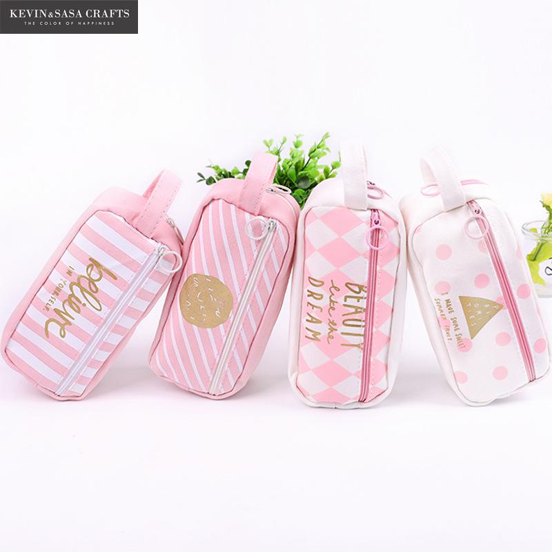 Pink Pencil Case Super Big School Supplies Bts Stationery Gift School Cute Pencil Box Pencilcase Pencil Bag School Tools minecraft pencil case for boys pencil case multifunction pencil box big capacity pencil bag school supplies bts stationery gift
