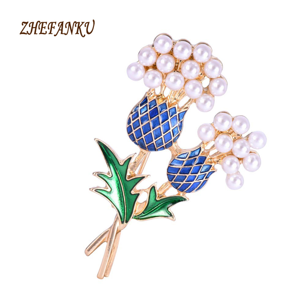 2017 New Fashion Collar Corsage Shirt Brooch Hot Sale Elegant Female Enamel Pineapple Tree Brooch Suit Pin Gift