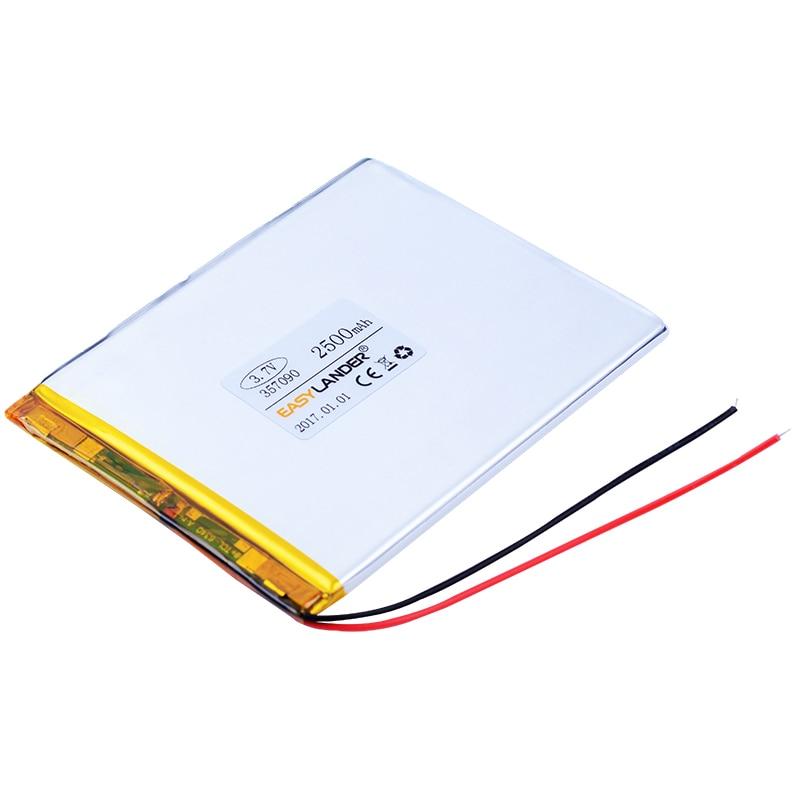 004cf838db 357090 3.7 V 2500 mAh Recarregável Bateria de Polímero De li Para Tablet PC  cubo U25GT U51GT Conversa 7x talk7x 4G N10 N12 Suo Lixin S18
