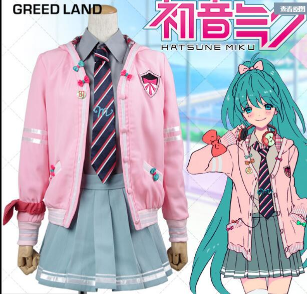 Vocaloid Project Diva Desu Cosplay Costume Hatsune Miku School Uniform Sweet Casual Lolita Anime Cosplay Costumes New Arrivals
