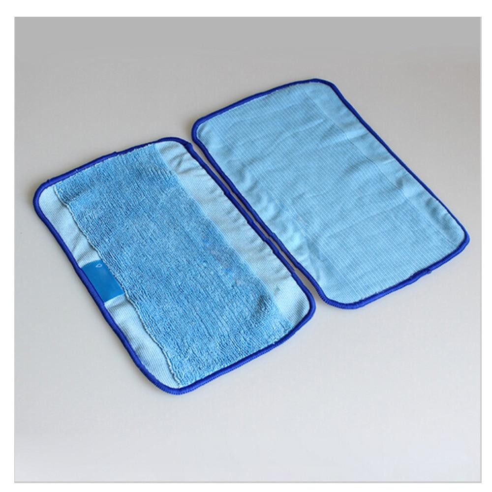 3Pcs / Lot Blue Washable Reusable Microfiber Mopping Cloths for iRobot Braava 380t 320 Mint 5200c 4200 Robotic Home Essential new 3pcs deep clean blue microfiber replacement washable wet mopping pads for braava jet 240 cleaner