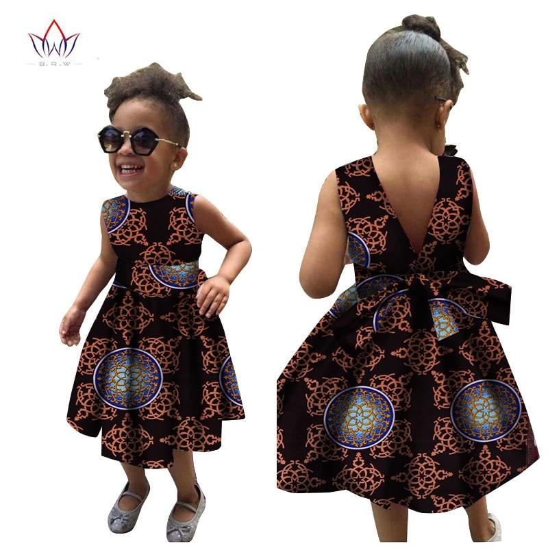 2019 Afrikanska kvinnor Kläder barn dashiki Traditionella bomull - Nationella kläder - Foto 4