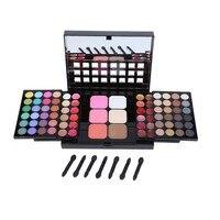 78 sombra Paletas conjunto 48 sombra 18 Brillo de labios + 6 Antiojeras + 6 Fundación Cara Polvos de maquillaje/ colorete cosmética belleza herramienta