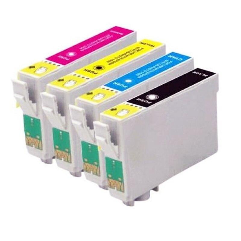 1 Set T1285 Ink Cartridge T1281 / T1282 / T1283 / T1284 for Stylus SX130 / S22 / SX225 / SX425W / SX435W / SX445W Printer