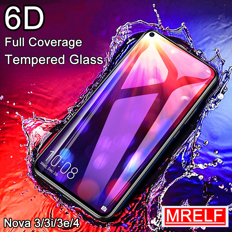 6D Tempered Glass For Huawei Nova 3 3i 4 Screen Protector On Nova 5 Pro 4 Protective Safety Glass For Huawei Nova 3I 3 3E 5I 4e