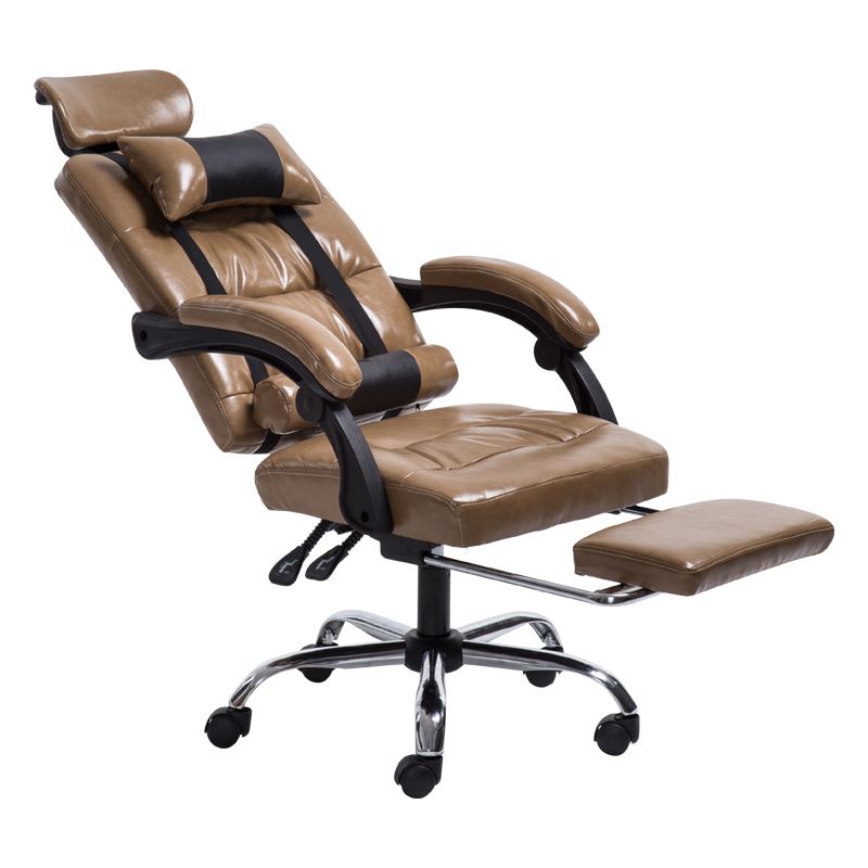 PI#3001 Computer can massage leather chair, boss staff, human engineering office, household lifting and rotating chair boss chair real leather computer chair home massage can lie in the leather chair solid wood armrest office chair 06