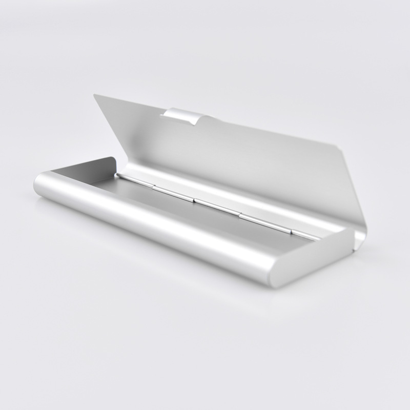 MUJI Style Silver Minimalism Iron Tinplate Creative Stationery Box Tin Pencil Box Pencil Case School Student Gifts Bd1710033 220909 school gifts boxes pupil men multifunctional creative disney child pencil box primary school student