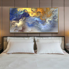 Modern Posters and Prints on Canvas Wall Art Oil Painting for Living Room Home Decor Creative Abstract Colorful Clouds Pictures(China)