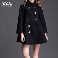 Fashion Plus Size Winter Coat Women Long Wool Coats High Quality Double Breasted Woolen Jacket Poncho Autumn Cashmere Coat