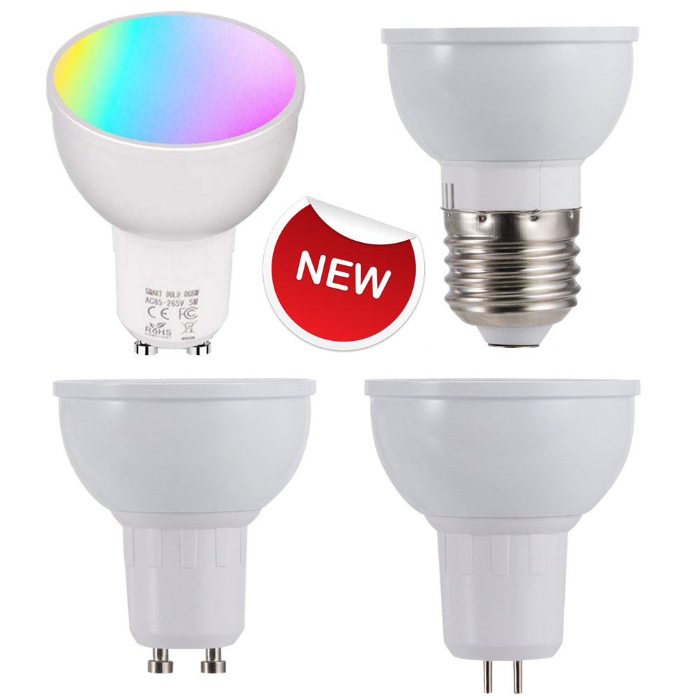 Smart WiFi Light Bulb 6W RGB Magic Light Bulb Lamp Cup Wake-Up Lights Compatible With Alexa And Google Assistant GU10/E27/GU5.3