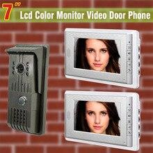 7 inch video door phone intercom system video doorbell interphone wired home video intercom system 1 Camera 2 Monitor