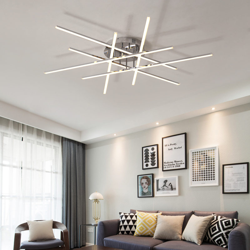 Chrome Plated Finish Modern led Chandelier For Living Room Bedroom Study Room 90-265V Home Deco Ceiling Chandelier FixturesChrome Plated Finish Modern led Chandelier For Living Room Bedroom Study Room 90-265V Home Deco Ceiling Chandelier Fixtures