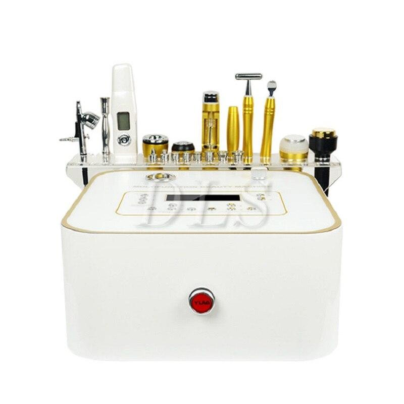 10 en 1 multifonctionnel Microdermabrasion Dermabrasion machine RF lifting du visage soins de la peau blanchiment utilisation de salon de beauté