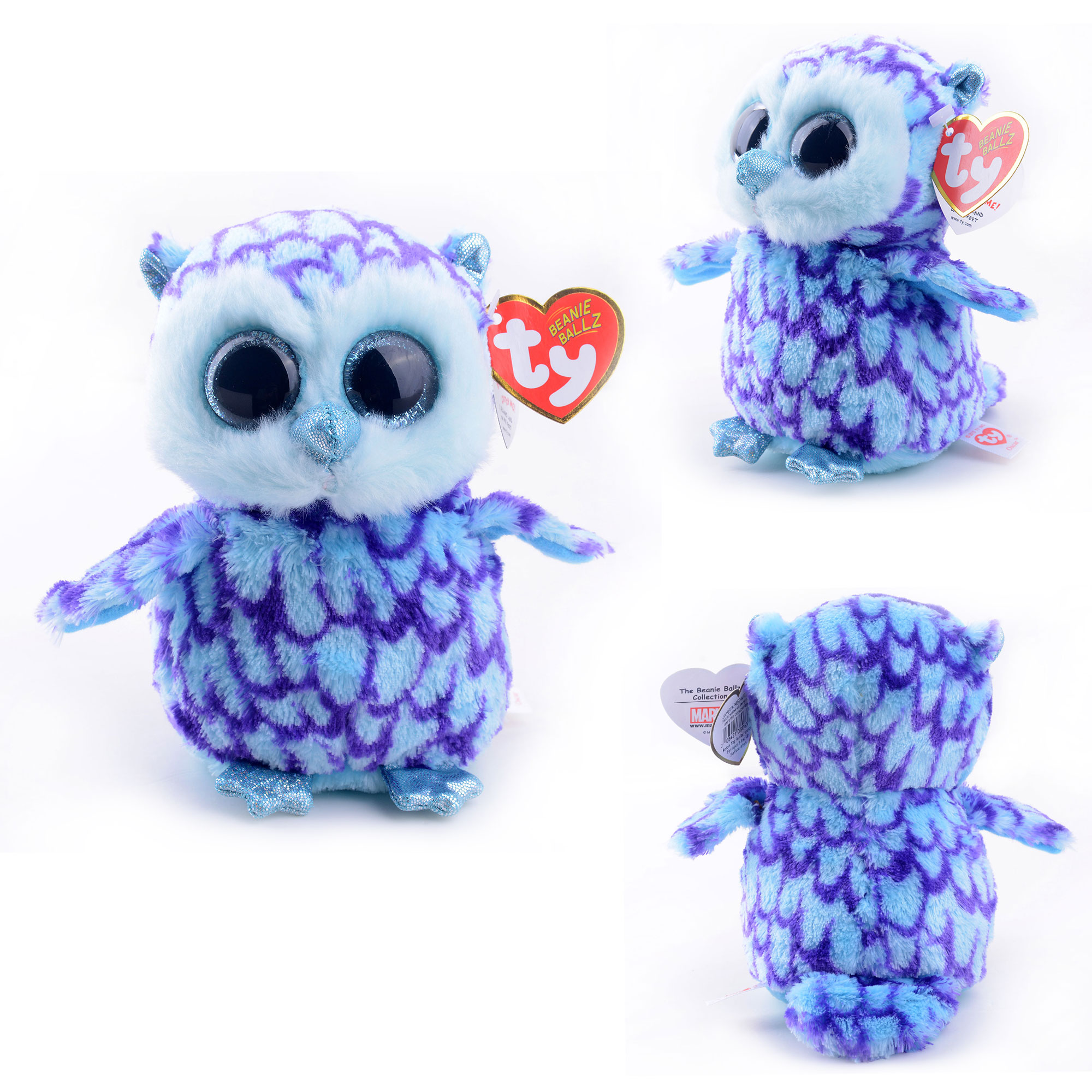 Plush Doll Original Ty Collection Blue Owl Keychain Kids Doll Plush