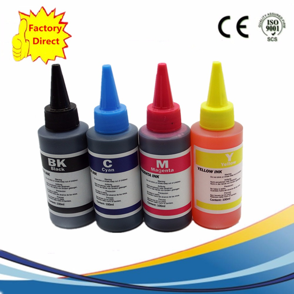 400ML Refill Dye Ink Kit For Borhter LC103 LC105 LC107 LC123 LC125 C127 LC133 LC135 Cartridges