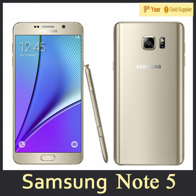 Dual SIM Samsung Galaxy Note 5 Note5 N9200 Cell Phone 4GB
