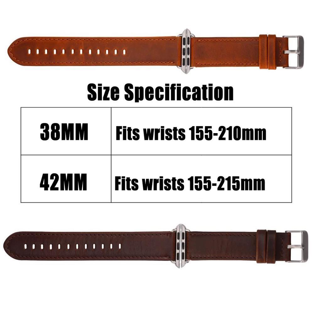 Bracelet de montre en cuir véritable de la série 2/1 pour la bande - Accessoires montres - Photo 5