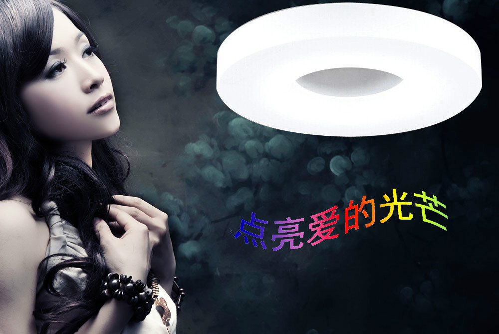 ФОТО Fashion Brief LED Ceiling Light Dia 35cm18W Aluminum&Acrylic Quality AC110V~240V,Cool White,Bedroom/kitchen/Corridor
