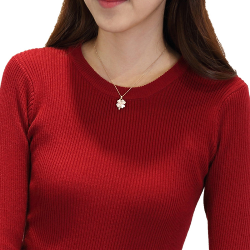 Spring Autumn Women Sweaters And Pullovers O Neck Long Sleeve Knitting Maglioni Donna Trui Blusas De Inverno Feminina