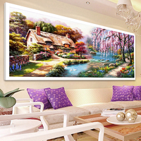 2017 DIY 5D Diamond Painting Landscape Painting Lakeside Willow Diamond Cross Stitch Suite Home Decor