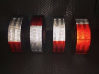 10Roll Wholesale DOT Reflective Tape Red and White DOT C2 Conspiciuity Tape COMMERCIAL ROLL