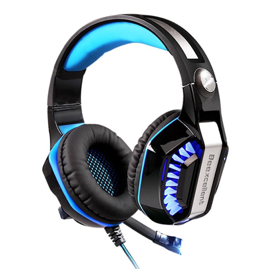 GM-2 Gaming Headset Mic Noise Reduction Headphones with LED Lights Ear-Pads 4 Xbox One PC Laptops