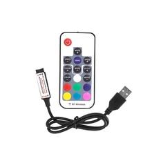 Mini RGB Led Controller 12V RF Wireless 3 Channels 17 Keys Remote Control for SMD 5050 RGB Led Strip Light Lighting USB plug