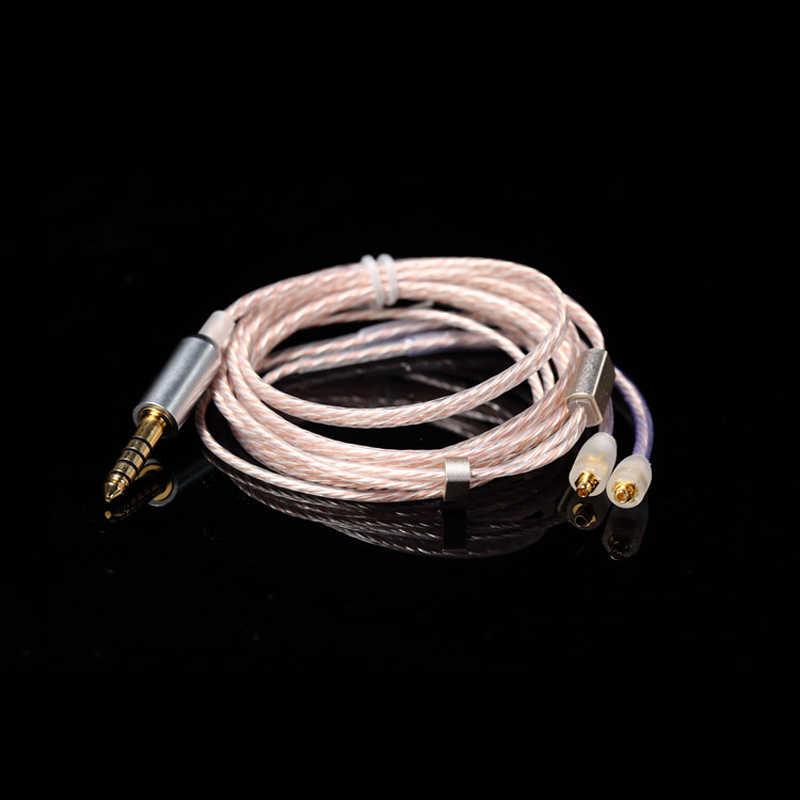 3.5mm 4.4mm równowagi MMCX kabel do Shure SE215 SE535 SE425 SE846 UE900 8 akcje słuchawki uaktualnić linii dla Sony iPhone z systemem Android