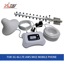 LCD Display + Intelligente Plein Yagi + Plafond antenne AWS 1700 MHz 3g 4g Signal Booster Mobile Signal répéteur amplificateur Pour 3G 4G