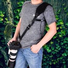 Universal Ajustável de Algodão Nylon Alça Da Câmera Rápida Câmera alça de Ombro Pescoço Cinto Cinta Preta Estilingue Para SLR DSLR Câmera Digital