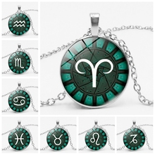 Hot! 3 Color 12 Zodiac Constellation Retro Aries Gemini Leo Pendant Necklace To Send Family Friends Gift Jewelry stylish lucky clover constellation style pendant necklace aries