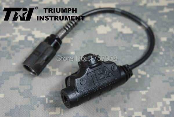 Instrumento TRI TEA U94 V2 Impermeable a prueba de impacto Militar 6-Pines PTT para PRC-152 PRC-148