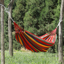 Горячая Радужный Открытый отдых двойной складной гамак из холста Сверхлегкий Кемпинг гамак с рюкзаком