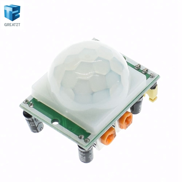 1pcs/lot HC-SR501 Adjust IR Pyroelectric Infrared PIR Motion Sensor Detector Module for GREATZT for raspberry pi kits