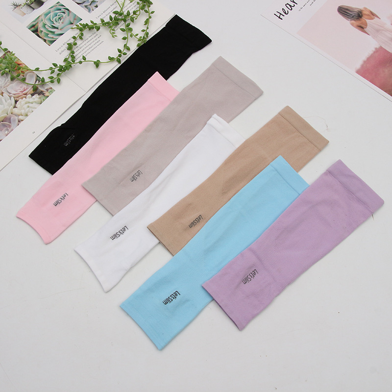 New Fashion Solid Color Sleeve Arm Sleeve Protection Warm UV Protection Outdoor Sports Fitness Breathable Arm Warmer