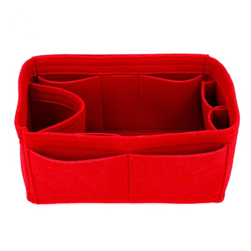 Felt Cloth Insert Bag Organizer 25 30 35 Makeup Handbag Organizer Travel  Inner