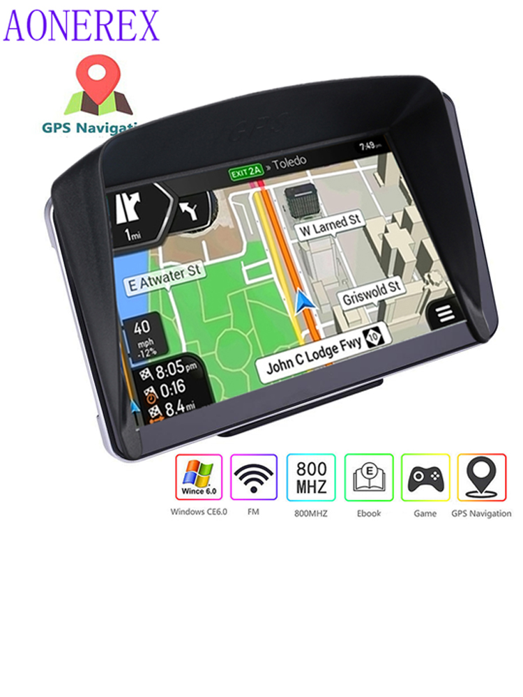 7 inch HD car GPS navigation FMGPS256MB Navitel satellite voice GPS  navigation truck GPS navigation car accessories Europe lates
