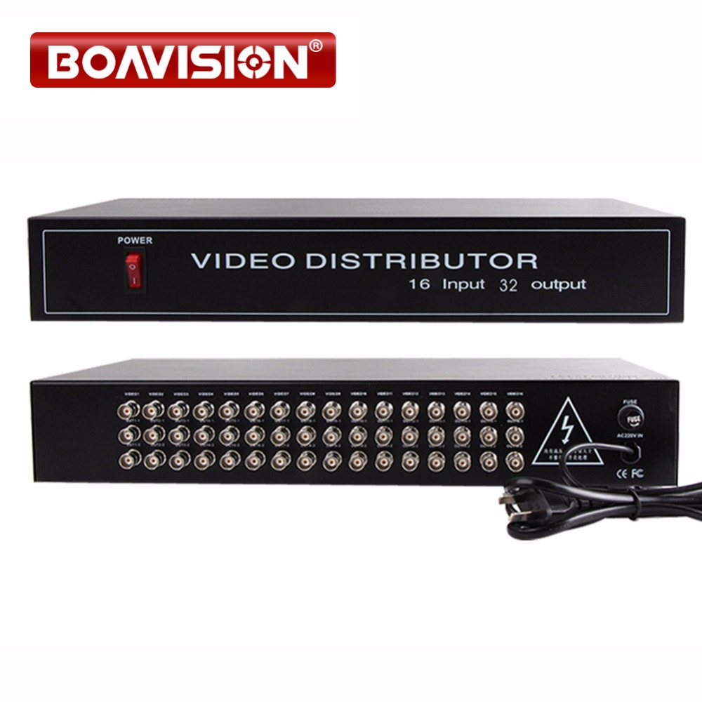 HD Video Splitter Distributor 16 Points 32 Output Support 720P 1080P AHD HDCVI HDTVI Camera BNC