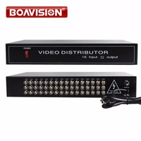 HD Video Splitter/Distributor 16 Points 32 Output,Support 720P/1080P AHD,HDCVI,HDTVI Camera BNC in&out Distance Max to 300 600M