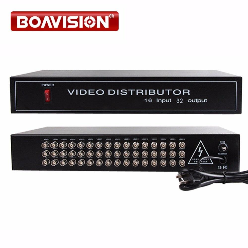 HD Video Splitter/Distributeur 16 Points 32 Sorties Soutien 720 p/1080 p AHD, HDCVI, HDTVI Caméra BNC in & out Distance Max à 300-600 m