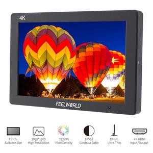 "Image 2 - Feelworld T7 7"" Camera monitor 4K HDMI 1920x1200 LCD IPS Full HD On camera Monitor Video Assist 7 inch Camera Field Monitor"